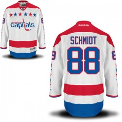 Washington Capitals Nate Schmidt Official White Reebok Authentic Adult Alternate NHL Hockey Jersey