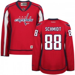 Washington Capitals Nate Schmidt Official Red Reebok Authentic Women's Home NHL Hockey Jersey