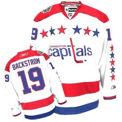 Washington Capitals Nicklas Backstrom Official White Reebok Authentic Women's Third NHL Hockey Jersey