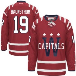 Washington Capitals Nicklas Backstrom Official Red Reebok Authentic Youth 2015 Winter Classic NHL Hockey Jersey