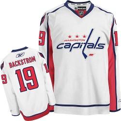 Washington Capitals Nicklas Backstrom Official White Reebok Authentic Youth Away NHL Hockey Jersey