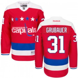 Washington Capitals Philipp Grubauer Official Red Reebok Premier Adult Alternate NHL Hockey Jersey
