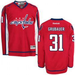 Washington Capitals Philipp Grubauer Official Red Reebok Premier Adult Home NHL Hockey Jersey