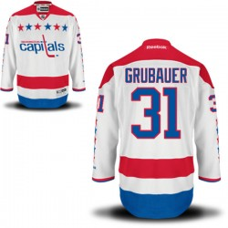 Washington Capitals Philipp Grubauer Official White Reebok Premier Adult Alternate NHL Hockey Jersey