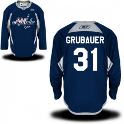 Washington Capitals Philipp Grubauer Official Navy Blue Reebok Authentic Adult Practice Team NHL Hockey Jersey