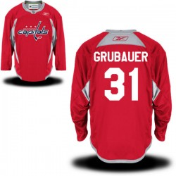 Washington Capitals Philipp Grubauer Official Red Reebok Authentic Adult Alternate NHL Hockey Jersey
