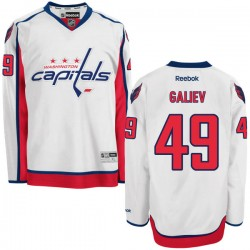 Washington Capitals Stanislav Galiev Official White Reebok Premier Adult Away NHL Hockey Jersey