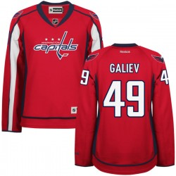 Washington Capitals Stanislav Galiev Official Red Reebok Authentic Women's Home NHL Hockey Jersey