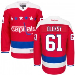 Washington Capitals Steve Oleksy Official Red Reebok Authentic Adult Alternate NHL Hockey Jersey