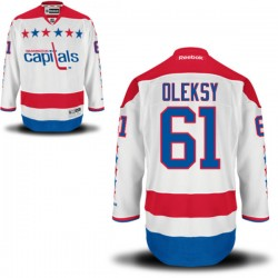 Washington Capitals Steve Oleksy Official White Reebok Authentic Adult Alternate NHL Hockey Jersey