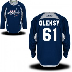 Washington Capitals Steve Oleksy Official Navy Blue Reebok Authentic Adult Practice Team NHL Hockey Jersey