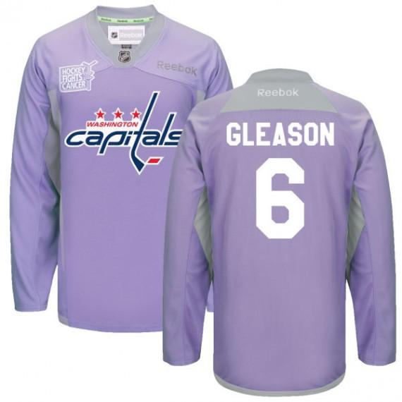 Washington Capitals Tim Gleason Official Purple Reebok Premier Adult 2016 Hockey Fights Cancer Practice Jersey