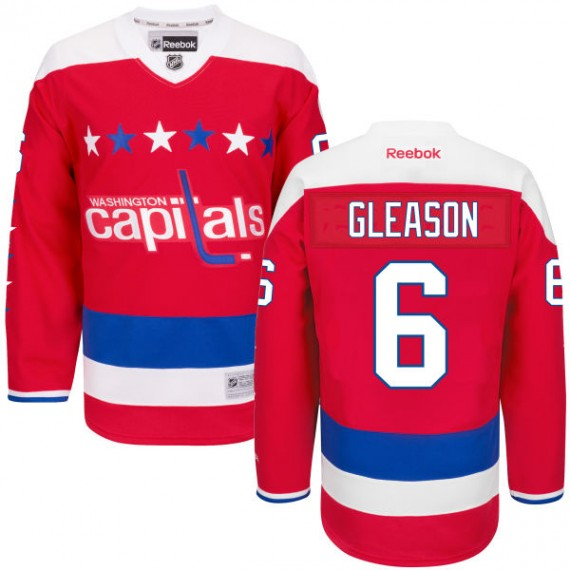 Washington Capitals Tim Gleason Official Red Reebok Authentic Adult Alternate NHL Hockey Jersey