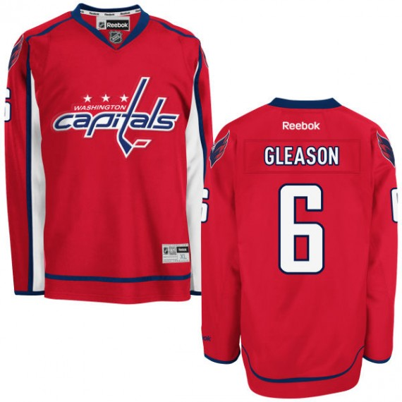 Washington Capitals Tim Gleason Official Red Reebok Authentic Adult Home NHL Hockey Jersey