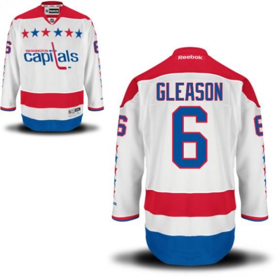 Washington Capitals Tim Gleason Official White Reebok Authentic Adult Alternate NHL Hockey Jersey