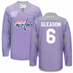 Washington Capitals Tim Gleason Official Purple Reebok Authentic Adult 2016 Hockey Fights Cancer Practice Jersey