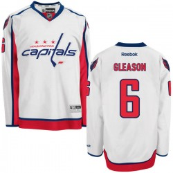 Washington Capitals Tim Gleason Official White Reebok Authentic Adult Away NHL Hockey Jersey