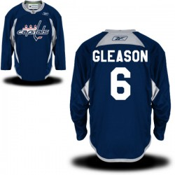 Washington Capitals Tim Gleason Official Navy Blue Reebok Authentic Adult Practice Team NHL Hockey Jersey