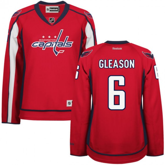 Washington Capitals Tim Gleason Official Red Reebok Authentic Women's Home NHL Hockey Jersey