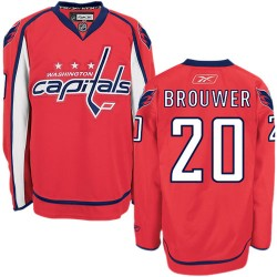 Washington Capitals Troy Brouwer Official Red Reebok Authentic Adult Home NHL Hockey Jersey