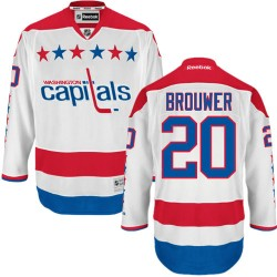 Washington Capitals Troy Brouwer Official White Reebok Authentic Adult Third NHL Hockey Jersey