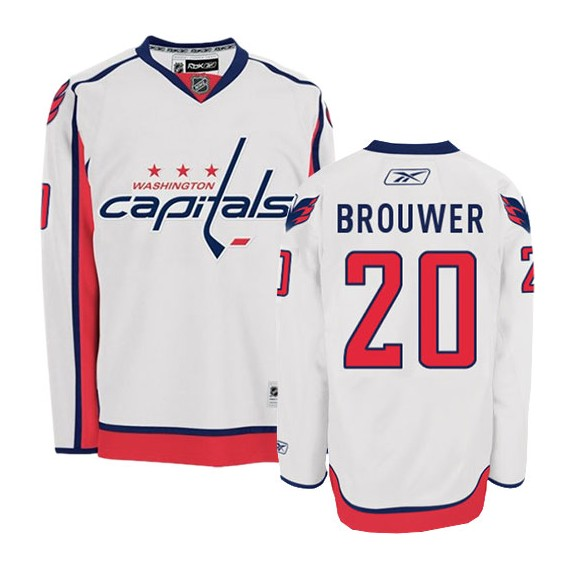 Washington Capitals Troy Brouwer Official White Reebok Premier Adult Away NHL Hockey Jersey