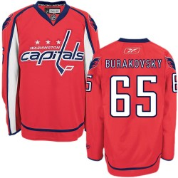 Washington Capitals Andre Burakovsky Official Red Reebok Authentic Adult Home NHL Hockey Jersey