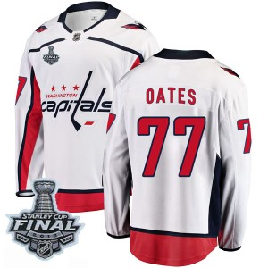 Washington Capitals Adam Oates Official White Fanatics Branded Breakaway Youth Away 2018 Stanley Cup Final Patch NHL Hockey Jers