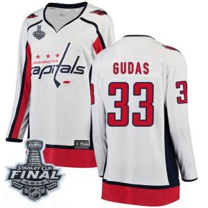 Washington Capitals Radko Gudas Official White Fanatics Branded Breakaway Women's Away 2018 Stanley Cup Final Patch NHL Hockey J