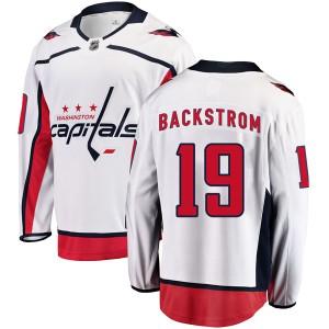 Washington Capitals Nicklas Backstrom Official White Fanatics Branded Breakaway Youth Away NHL Hockey Jersey