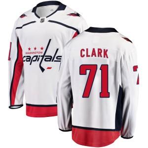 Washington Capitals Kody Clark Official White Fanatics Branded Breakaway Youth Away NHL Hockey Jersey