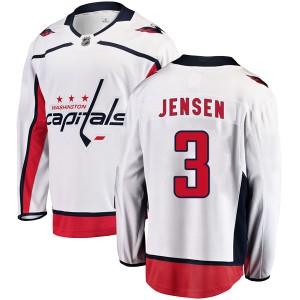 Washington Capitals Nick Jensen Official White Fanatics Branded Breakaway Youth Away NHL Hockey Jersey