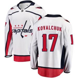 Washington Capitals Ilya Kovalchuk Official White Fanatics Branded Breakaway Youth ized Away NHL Hockey Jersey