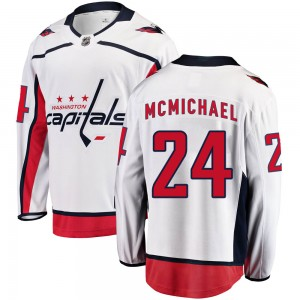 Washington Capitals Connor McMichael Official White Fanatics Branded Breakaway Youth Away NHL Hockey Jersey