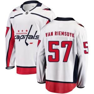 Washington Capitals Trevor van Riemsdyk Official White Fanatics Branded Breakaway Youth Away NHL Hockey Jersey