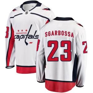 Washington Capitals Michael Sgarbossa Official White Fanatics Branded Breakaway Youth Away NHL Hockey Jersey