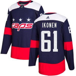 Washington Capitals Juuso Ikonen Official Navy Blue Adidas Authentic Youth 2018 Stadium Series NHL Hockey Jersey