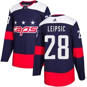 Washington Capitals Brendan Leipsic Official Navy Blue Adidas Authentic Youth 2018 Stadium Series NHL Hockey Jersey