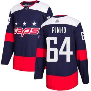 Washington Capitals Brian Pinho Official Navy Blue Adidas Authentic Youth ized 2018 Stadium Series NHL Hockey Jersey