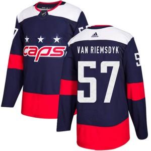 Washington Capitals Trevor van Riemsdyk Official Navy Blue Adidas Authentic Youth 2018 Stadium Series NHL Hockey Jersey