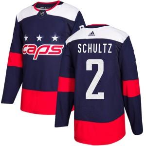 Washington Capitals Justin Schultz Official Navy Blue Adidas Authentic Youth 2018 Stadium Series NHL Hockey Jersey