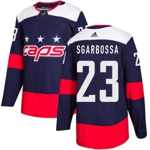 Washington Capitals Michael Sgarbossa Official Navy Blue Adidas Authentic Youth 2018 Stadium Series NHL Hockey Jersey