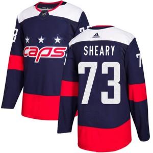 Washington Capitals Conor Sheary Official Navy Blue Adidas Authentic Youth 2018 Stadium Series NHL Hockey Jersey