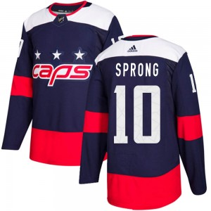 Washington Capitals Daniel Sprong Official Navy Blue Adidas Authentic Youth ized 2018 Stadium Series NHL Hockey Jersey