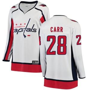Washington Capitals Daniel Carr Official White Fanatics Branded Breakaway Women's Away NHL Hockey Jersey
