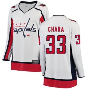 Washington Capitals Zdeno Chara Official White Fanatics Branded Breakaway Women's Away NHL Hockey Jersey