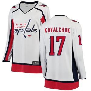 Washington Capitals Ilya Kovalchuk Official White Fanatics Branded Breakaway Women's ized Away NHL Hockey Jersey