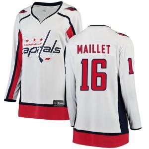 Washington Capitals Philippe Maillet Official White Fanatics Branded Breakaway Women's ized Away NHL Hockey Jersey