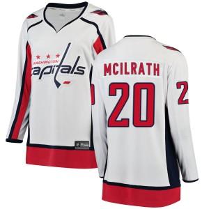 Washington Capitals Dylan McIlrath Official White Fanatics Branded Breakaway Women's Away NHL Hockey Jersey
