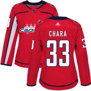 Washington Capitals Zdeno Chara Official Red Adidas Authentic Women's Home NHL Hockey Jersey